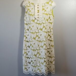 Antonio Melani Green & White Lace Dress